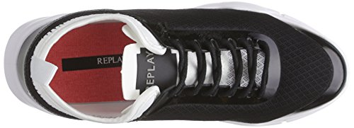 Replay Haute, Baskets Basses femme Multicolore - Mehrfarbig (BLACK WHITE 8)