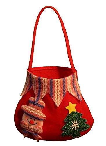 Set di 3 sacchetti di regalo di natale con decorazioni natalizie [b]
