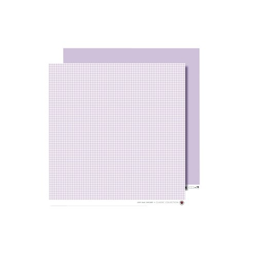 RAYHER - Scrapbooking-Papier, Karo, 30,5x30,5 cm, 190g/m2, flieder
