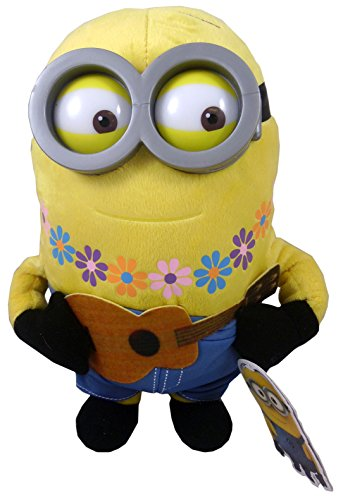 """Minion with Flowers and Guitar Plush - Despicable Me - 25cm 10"""""""