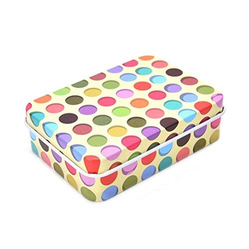 Mindruer Lovely Mini-Dose Metall Container Kleine Aufbewahrungsbox Fall (Punkt)