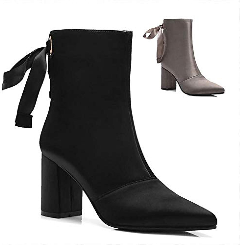 IG Stivali Stivali Stivali da Donna - Stivali Moda Sexy Autunno Inverno   Stivali a Radice Quadrata Appuntita   34-39,Nero,35 | Sale Italia  027844