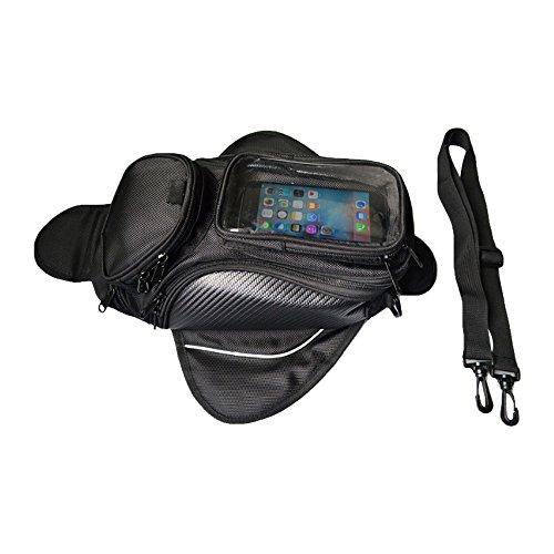 ESTGOUK Universeller Tankrucksack mit Magneten,Motorrad Tasche für Behälter Wasserdichtes GPS Telefon,Schwarz