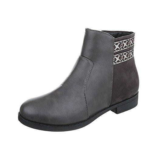 Chaussures femme Bottes et bottines Bloc Chelsea Bottes Ital-Design Gris