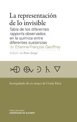 La representación de lo invisible : tabla de los diferentes rapports observados en la química entre diferentes sustancias por Etienne-François Geoffroy