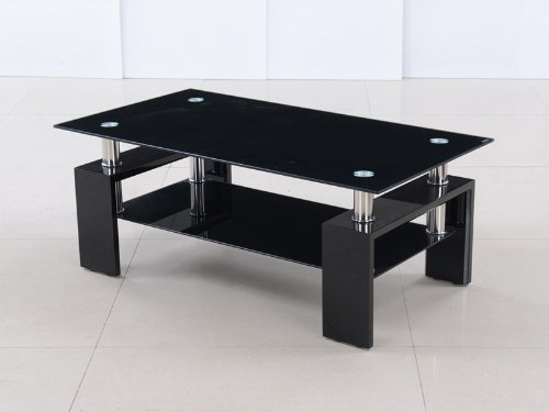 Metro High Gloss Black Coffee Table