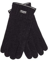 501fb4e56a5978 EEM Herren Strick Handschuhe JAKOB mit Thinsulate™ Thermofutter und echtem  Wildleder als Saum und auf der Innenhand, 100% Wolle,…