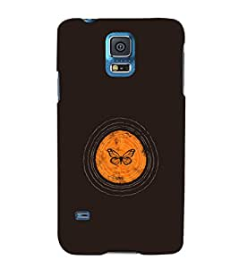 EPICCASE Butterfly cocoon Mobile Back Case Cover For Samsung Galaxy S5 (Designer Case)
