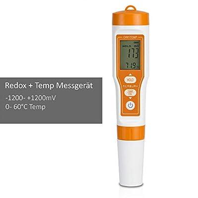 Measury Redox Messgerät, ORP Meter Messgerät mit Temperaturanzeige für Trinkwasser, Aquarium und Pool, Redox Tester ±1200mV