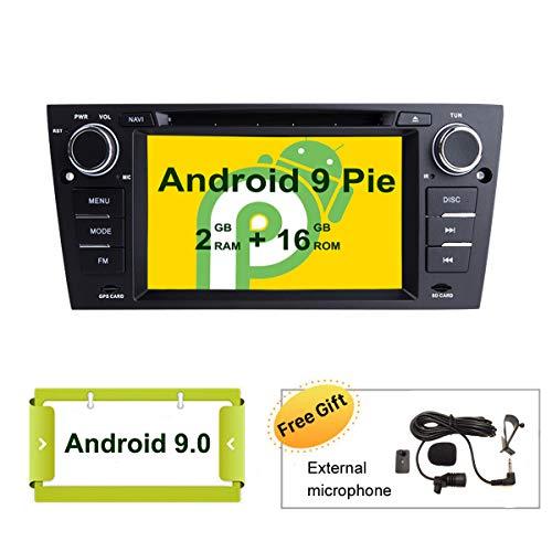 SMARTNAVI, Autoradio für BMW E90 E91 E92 E93 Android 9.0 Autoradio mit Touchscreen und Spiegelverbindung, Full RCA Ausgang, Split-Screen-Modus, WiFi Atsc Dvr