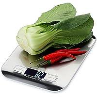 Báscula Digital para Cocina Max 5000g Balanza de Alimentos Peso de Cocina con Grande Pantalla LCD y Función de Tara (Baterías Incluidas)