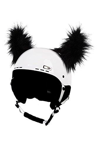 Crazy Ears Schwarze Haarige Hörner | Helmmütze Helm-Ohren Helm Aufkleber | Fell-Hörner, CrazyEars:Schwarze Hörner -