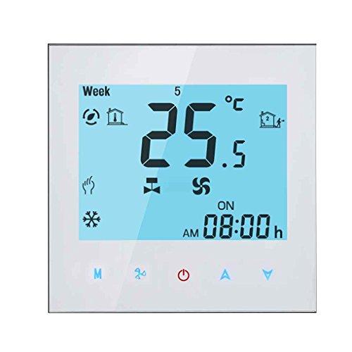 LCD Display Klimaanlage Touchscreen Temperaturregler Vier Rohre Drei Windgeschwindigkeit Thermostat Kühlen Heizen Mengonee