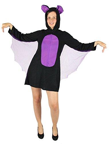 Der Karibik Girl Kostüm Fluch - Foxxeo Fledermaus Kostüm für Damen Fledermauskostüm Halloween Tier Damenkostüm Gr. S-XXL Größe XXL