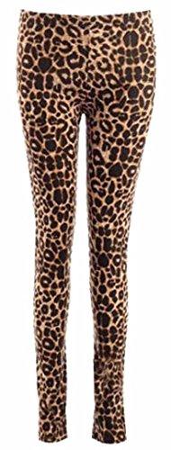 Frauen Leggings LeopardAnimal PrintViscose Jersey (Leopard-print-jersey)
