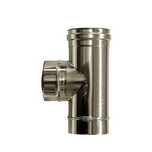 T raccordement de combustion 90 ° DN 80 tube en acier inoxydable INOX 316