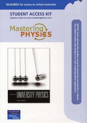 Mastering Physik, Pearson (Mastering Physics Student Access Kit)