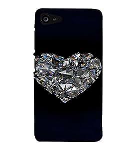 PrintVisa Romantic Love Diamond 3D Hard Polycarbonate Designer Back Case Cover for Lenovo Zuk Z2