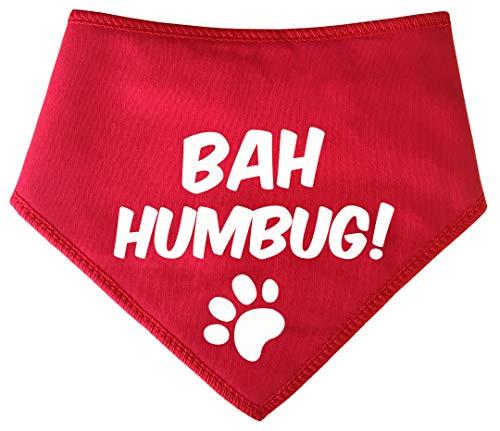 Spoilt Rotten Pets (S3 Bah Humbug Weihnachten Dog Bandana-alle Rassen Größen erhältlich von Tiny Chihuahua bis Extra groß Neufundländer - Bah Humbug Kostüm