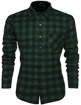 [Sponsorizzato]Coofandy Camicie Casual Uomo Maniche Lunghe Cotone Shirt Dimensione S-3XL