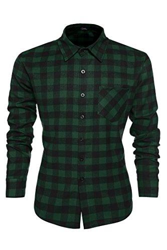 Coofandy Camisa Hombre Manga Larga Shirt for Men Invierno