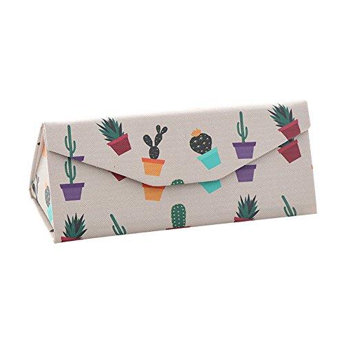 AchidistviQ Sonnenbrille Box Faltbare Triangle Fashion Brillenetui Kunstleder Sonnenbrille Box Displayschutzfolie 5#