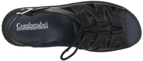 Comfortabel 710521, Sandales femme Noir (Schwarz 1)