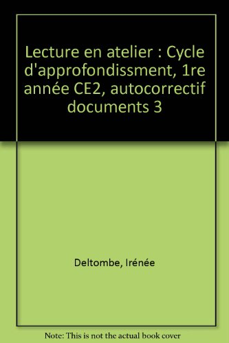 Cahier autocorrectif Documents, CE2