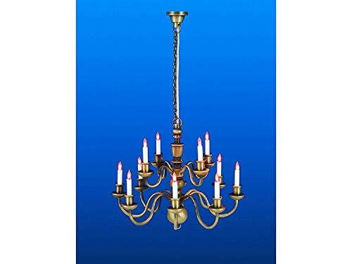 Arm-kerze Kronleuchter (Melody Jane Puppenhaus 12 Arm Kerze Kronleuchter Miniatur Elektrische)