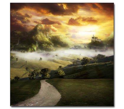 Poster Schloss Neuschwanstein --- The Realm Of Light --- Landschaft Natur Fantasy (Schloss Neuschwanstein Poster)