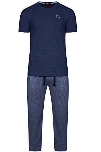 Tokyo Laundry Herren Relaxed Schlafanzug blau blau Small Culmore - Midnight Blue