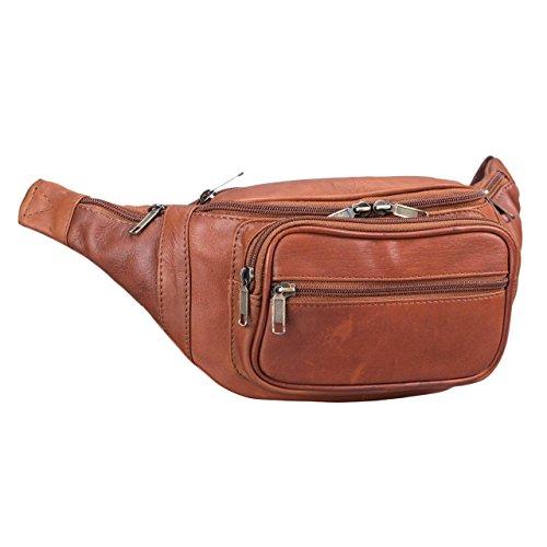 STILORD 'Maverick' Bolso riñonera Bandolera de Piel Estilo Retro Bolso de Cintura para Viaje de Hombres y Mujeres Bolsa de Cadera o cinturón de auténtico Cuero, Color:Cognac-marrón