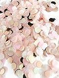 Konfetti rosegold mehrfarbig, 1cm rund, 10g, 1000 Stück - elegante und moderne Partydeko - Geburtstag, Hochzeit, Baby-shower, Silvester