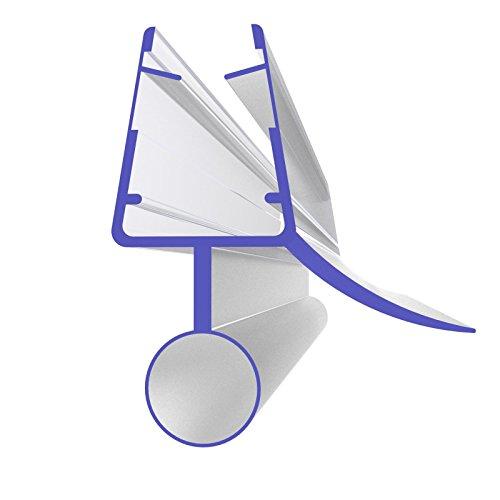 Duschdichtung Typ 8863 für 5 mm, 6 mm, 7 mm und 8 mm Glas - 800 mm lang - Wasserabweiser Ersatzdichtung Duschprofil Duschtürdichtung (Tür Dusche Nicht Glas)