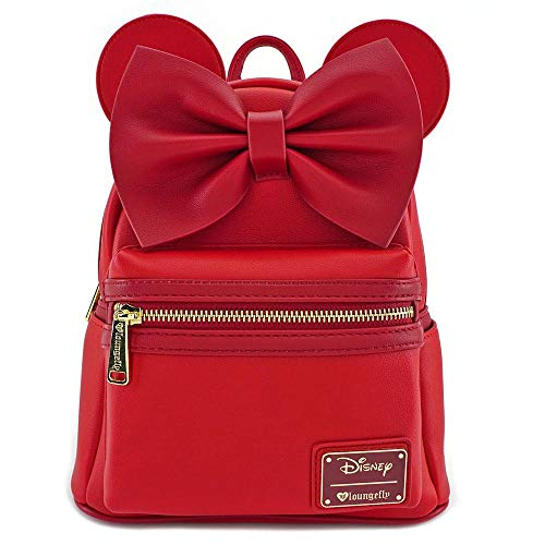 fe004c81beb Loungefly Minnie Mouse Red Faux Leather Mini Backpack Standard