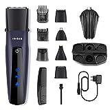 Tondeuse Cheveux Hommes 5 en 1 Tondeuse Barbe Tondeuse Nez avec Sabot 1-20mm sans Fil Rechargeable ELEHOT