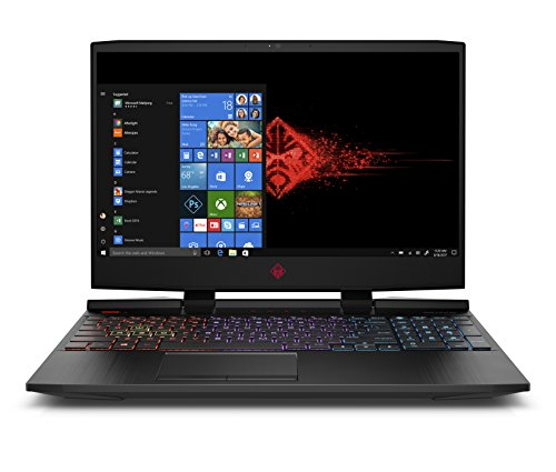 "HP 15-dc1002ns - Ordenador portátil de 15.6"" (Intel Core i7 8750H, 16 GB RAM, 256 GB SSD + 1 TB HDD, NVIDIA GeForce RTX 2060, Windows 10 Home) Negro Sombra - Teclado QWERTY Español"