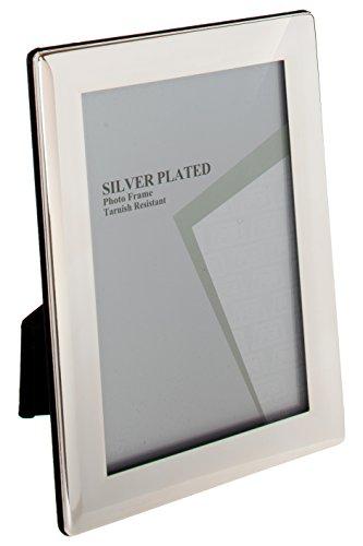 Unity viceni cornice placcata argento bordi sottili 20x25cm, silver