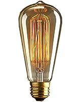 KINGSO 1x Vintage light bulb Retro old fashioned Edison Style E27 Screw ST64 19 anchors 40W 220V - Squirrel Cage tungsten filament glass antique Lamp