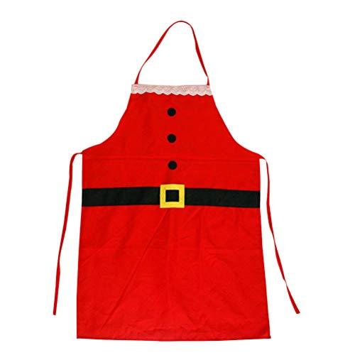 BESTOYARD Adulti Natale Babbo Natale Grembiule da cuoco Grembiuli da cuoco con tasche Xmad Party Supplies