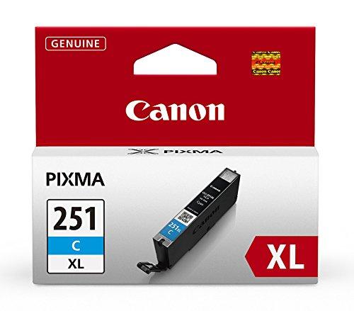 Canon cli-251C XL Cyan Druckerpatrone-Tintenpatronen (cyan,-Pixma ip7220-Pixma MG5420-Pixma MG6320-Pixma MG6320-Pixma MX722-Pixma mx922, hoher Wirkungsgrad (XL)) (Canon Mx922 Für Tintenpatronen)