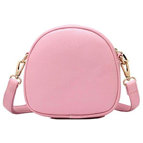 WU Zhi Handtaschen-Schulter-Kurier-Beutel-Dame Mini Shell-Beutel-Handtasche Pink