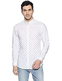 Jack & Jones Men's Printed Slim Fit Casual Shirt