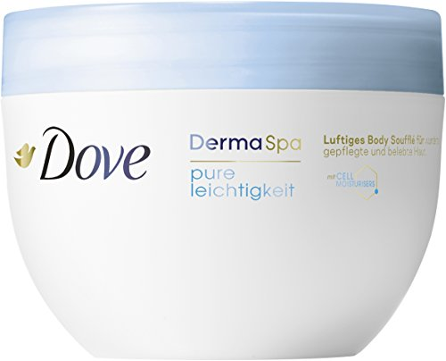 Dove DermaSpa Pure Leichtigkeit Body Creme, 300 ml Tiegel, 2er Pack (2 x 318 g)