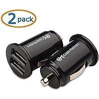 Cable Matters® (2-Pack) 10W 2A Mini Double-USB Chargeur de voiture en Noir