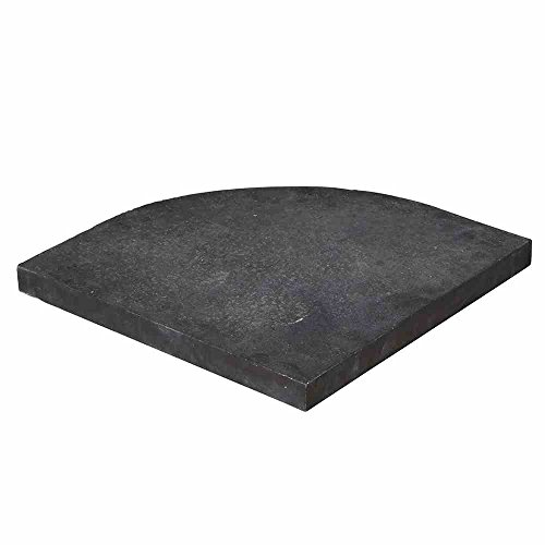 Siena Garden Celona Granitplatte, Schwarz, 55x49x4 cm