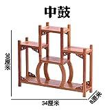 GWDecor Antik Redwood Regal Chinesisch Traditionelle Handarbeit Geschnitzt Pear Holz Möbel Creative Home Retro Dekor Schmuck Storage Mitte Der Trommel- Form