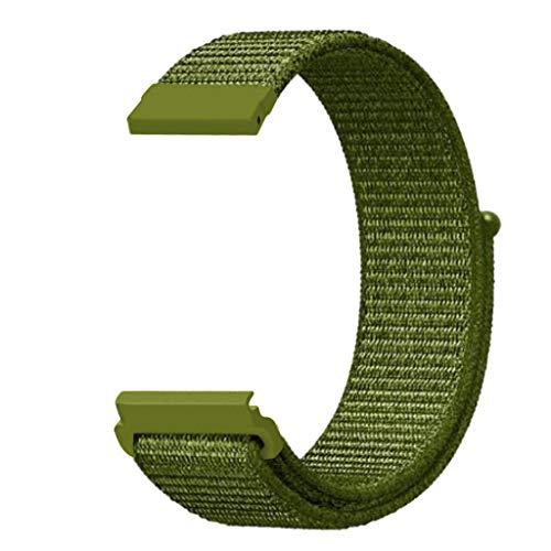 Knowin Uhrenarmband Ersatz-Nylon-Sportschlaufe-Handgelenkschlaufe für Huami Amazfit Bip Youth Watch Unisex Klettverschluss Ersatzband in Farbe