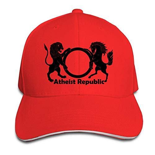 Atheist Republic Adjustable Baseball Caps Vintage Sandwich Hat,Personality Caps Hats Men Women Casual Denim Adjustable Dad Hat Baseball Cap Trucker Hat
