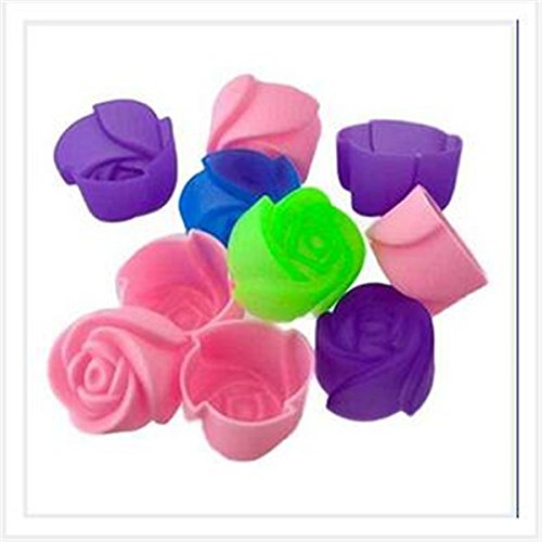 F-cup Cookies (10 PCS Rose Muffin Cookie Cup Kuchen Backen Form Modell Schokolade, so Konfekt Jelly)